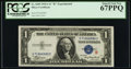 "Small Size:Silver Certificates, Fr. 1609 $1 1935A ""R"" Silver Certificate. PCGS Superb Gem New 67PPQ.. ..."