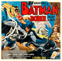 "The New Adventures of Batman and Robin (Columbia, 1949). Six Sheet (80"" X 79.5"")"