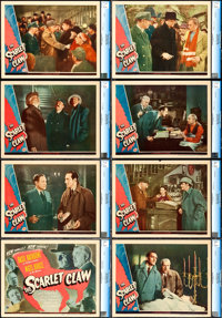 "The Scarlet Claw (Universal, 1944). CGC Graded Lobby Card Set of 8 (11"" X 14""). ... (Total: 8 Items)"