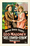 "Movie Posters:Western, Lost, Strayed or Stolen (Pathé, 1923). One Sheet (27"" X 41"").. ..."