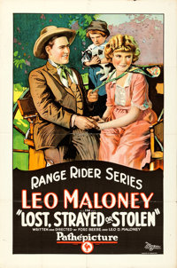"""Lost, Strayed or Stolen (Pathé, 1923). One Sheet (27"""" X 41"""")"""