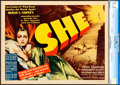 "Movie Posters:Fantasy, She (RKO, 1935). CGC Graded Title Lobby Card (11"" X 14"").. ..."