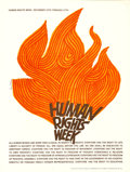 "Movie Posters:Miscellaneous, Human Rights Week by Saul Bass (UNESCO, 1965). Poster (18"" X 24"").. ..."