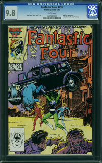 Fantastic Four #291 (Marvel, 1986) CGC NM/MT 9.8 WHITE pages