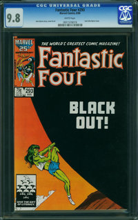 Fantastic Four #293 (Marvel, 1986) CGC NM/MT 9.8 WHITE pages