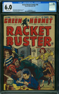 Green Hornet Comics #44 (Harvey, 1949) CGC FN 6.0 OFF-WHITE pages