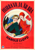 "Movie Posters:Comedy, Speedy (Paramount, 1928). Swedish One Sheet (28"" X 39"").. ..."