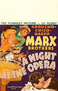 "Movie Posters:Comedy, A Night at the Opera (MGM, 1935). Window Card (14"" X 22"") Al Hirschfeld Artwork.. ..."