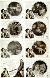 """Laugh, Clown, Laugh (MGM, 1928). Silver Nitrate Lobby Card Transparency Set of 8 (10.25"""" X 13). ... (Total: 8 Items..."""
