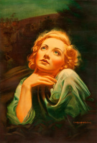 "Blonde Venus (Paramount, 1932). Special Linen Finish Full-Bleed One Sheet (27"" X 40"") Charles Lennox Wright II..."