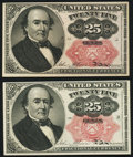 Fractional Currency:Fifth Issue, Fr. 1308 25¢ Fifth Issue Choice About New.. Fr. 1309 25¢ Fifth Issue Choice About New.. ... (Total: 2 notes)