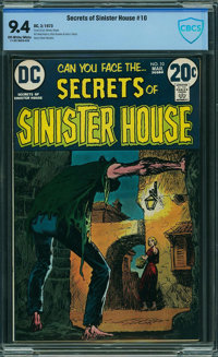 Secrets of Sinister House #10 - CBCS CERTIFIED (DC, 1973) CGC NM 9.4 Off-white to white pages