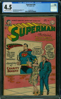 Superman #94 (DC, 1955) CGC VG+ 4.5 CREAM TO OFF-WHITE pages
