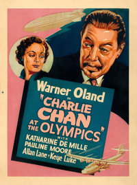 "Charlie Chan at the Olympics (20th Century Fox, 1937). Silk Screen Poster (30"" X 40"")"