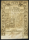 Colonial Notes:Rhode Island, Rhode Island May 1786 6s Choice About New.. ...