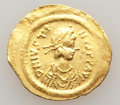 Ancients:Byzantine, Ancients: Justin II (AD 565-578). AV semissis (2.18gm). AU....