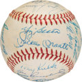 Baseball Collectibles:Balls, 1960 New York Yankees Team Signed Baseball from The Joseph O'TooleCollection. ...