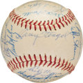 Baseball Collectibles:Balls, 1959 A.L. All-Star Team (First Game) Signed Baseball from The Joseph O'Toole Collection. ...