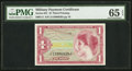 Military Payment Certificates:Series 641, Series 641 $1 PMG Gem Uncirculated 65 EPQ.. ...