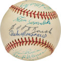 Baseball Collectibles:Balls, 1974-76 Hall of Famers Multi-Signed Baseball from The Joseph O'Toole Collection. ...