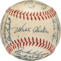 1955 Brooklyn Dodgers Team Signed Baseball, PSA NM 7 from The Joseph O'Toole Collection
