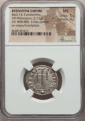 Ancients:Byzantine, Ancients: Basil I (AD 867-886) and Constantine (AD 868-879). ARmiliaresion (2.73 gm). NGC MS 5/5 - 4/5....