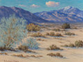 Fine Art - Painting, American, Roi Clarkson Colman (American, 1884-1945). The Desert Village,Palm Springs. Oil on board. 12 x 16 inches (30.5 x 40.6 c...