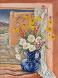 Fine Art - Painting, American, Paul Rohland (American, 1884-1953). Taos Window, 1935. Oilon canvas. 36 x 27 inches (91.4 x 68.6 cm). Signed lower left...