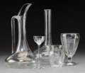 Furniture, A Thirty-One Piece Set of Romanov-Style Etched Glass Stemware, 20th century. 11 x 6-1/2 inches (tallest, pitcher). ... (Total: 31 Items)