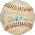 Baseball Collectibles:Balls, Circa 1975 Hall of Famers Multi-Signed Baseball from The Joseph O'Toole Collection. ...