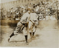 Baseball Collectibles:Photos, 1908-09 Honus Wagner & Howie Camnitz Original Photograph byCharles Conlon, PSA/DNA Type 1 from The Joseph O'TooleCollection....