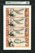 Obsoletes By State:New York, New York, NY- Importers and Traders Bank $5-$5-$5-$10 185_ G6b-G6b-G6b-G8b Uncut Proof Sheet. ...