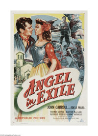 "Angel in Exile (Republic, 1948). One Sheet (27"" X 41""). Offered here is a vintage, theater-used poster for thi..."
