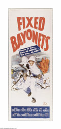 "Movie Posters:War, Fixed Bayonets! (20th Century Fox, 1951). Insert (14"" X 36"").Offered here is a vintage, theater-used poster for this war dr..."