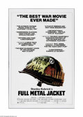"Movie Posters:War, Full Metal Jacket (Warner Brothers, 1987). One Sheet (27"" X 41"").Offered here is a vintage, theater-used poster for this wa..."