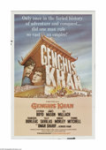 "Movie Posters:Adventure, Genghis Khan (Columbia, 1965). One Sheet (27"" X 41""). Offered hereis a vintage, theater-used poster for this adventure/dram..."