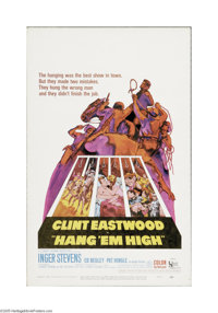 """Hang 'Em High (United Artists, 1968). Window Card (14"""" X 22""""). Offered here is a vintage, theater-used poster..."""