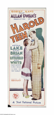 """Harold Teen (First National, 1928). Insert (14"""" X 36""""). Offered here is a vintage, theater-used poster for thi..."""