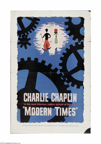 """Modern Times (United Artists, R-1959). One Sheet (27"""" X 41""""). Offered here is a vintage, theater-used poster f..."""