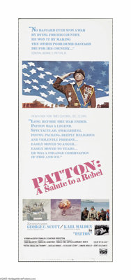 """Patton (20th Century Fox, 1970). Insert (14"""" X 36""""). Offered here is a vintage, theater-used poster for this w..."""