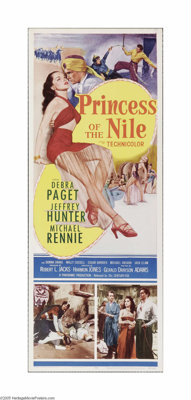 "Princess of the Nile (20th Century Fox, 1954). Insert (14"" X 36""). Offered here is a vintage, theater-used pos..."