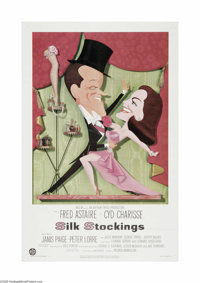 """Silk Stockings (MGM, 1957). One Sheet (27"""" X 41""""). Offered here is a vintage, theater-used poster for this mus..."""