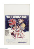 """Movie Posters:Science Fiction, Wild, Wild Planet (MGM, 1965). Window Card (14"""" X 22""""). Offeredhere is a vintage, theater-used poster for this sci-fi produ..."""