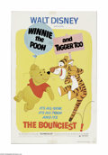 "Movie Posters:Animated, Winnie the Pooh and Tigger Too (Buena Vista, 1974).. One Sheet (27""X 41""). Offered here is a vintage, theater-used poster f..."