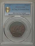 Colonials, 1787 1C Fugio Cent, STATES UNITED, Eight-Pointed Stars, Good 6 PCGS Secure. PCGS Population: (3/109 and 0/0+). NGC Census: ...
