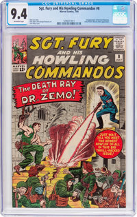 Sgt. Fury and His Howling Commandos #8 (Marvel, 1964) CGC NM 9.4 Off-white pages