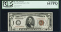 Small Size:World War II Emergency Notes, Fr. 2302 $5 1934A Hawaii Federal Reserve Note. PCGS Very Choice New 64PPQ.. ...