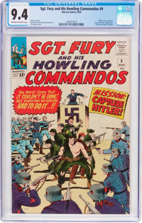Sgt. Fury and His Howling Commandos #9 (Marvel, 1964) CGC NM 9.4 Off-white to white pages