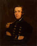 Fine Art - Painting, American, American School (19th Century). Enlisted Navy Officer in FullDress, circa 1840. Oil on canvas laid on Masonite. 29-3/4 ...
