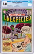 Silver Age (1956-1969):Science Fiction, Tales of the Unexpected #1 (DC, 1956) CGC VG/FN 5.0 Off-white towhite pages....